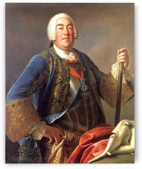 Portrait of King Augustus III of Poland by Pietro Antonio Rotari