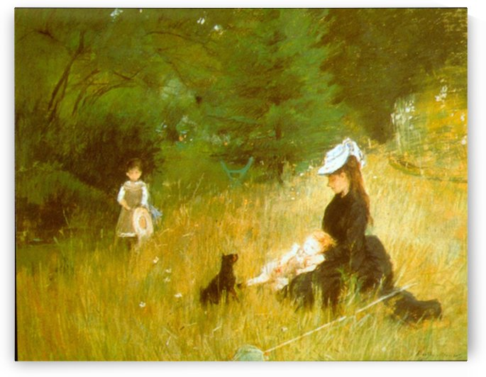 In the Grass by Morisot by Morisot