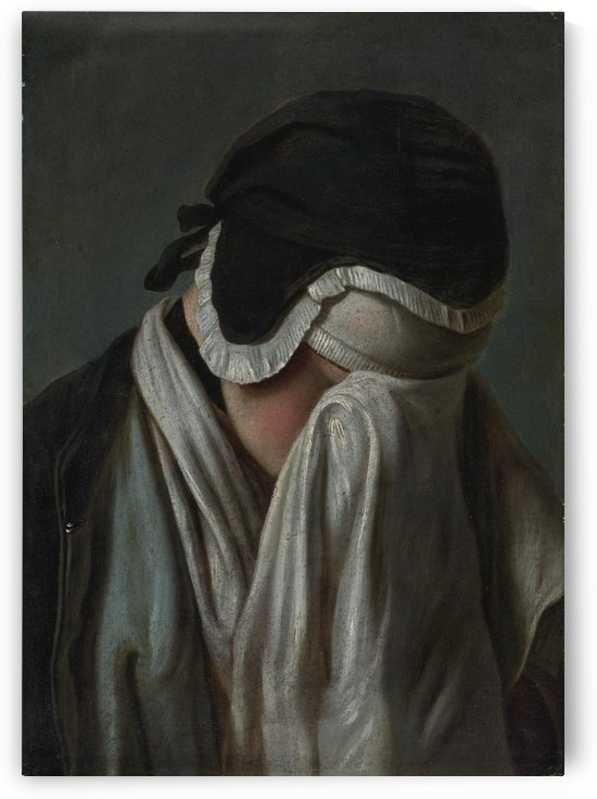 Portrait of a Young Girl Hiding Her Eyes by Pietro Antonio Rotari