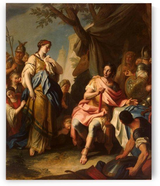 Alexander The Great and Roxane by Pietro Antonio Rotari