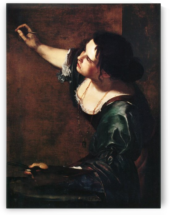 Self-portrait as the Allegory of Painting by Artemisia Gentileschi