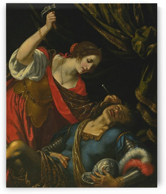 Jael and Sisera by Artemisia Gentileschi