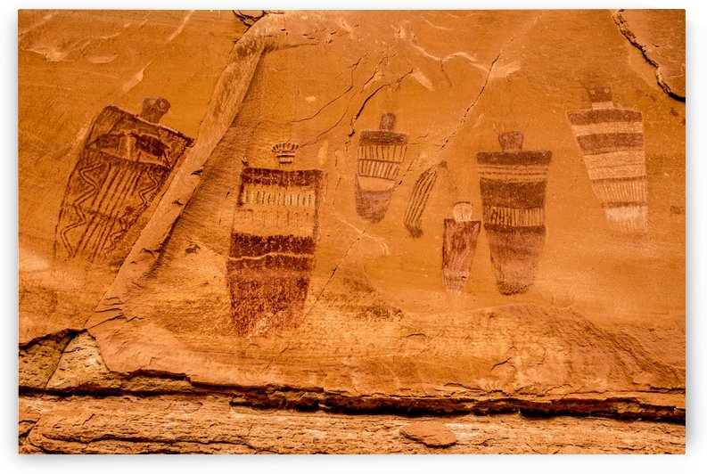 Horseshoe Canyon Great Gallery - Utah by Gary Whitton