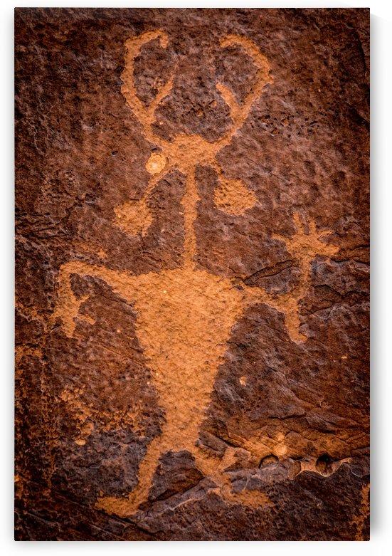 Moab Man Petroglyph Portrait - Utah by Gary Whitton