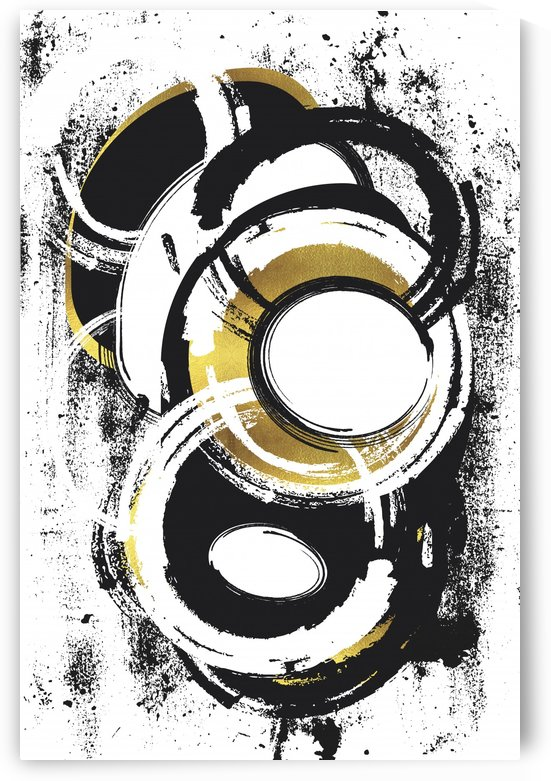 Abstract Painting No. 1 | gold by Melanie Viola