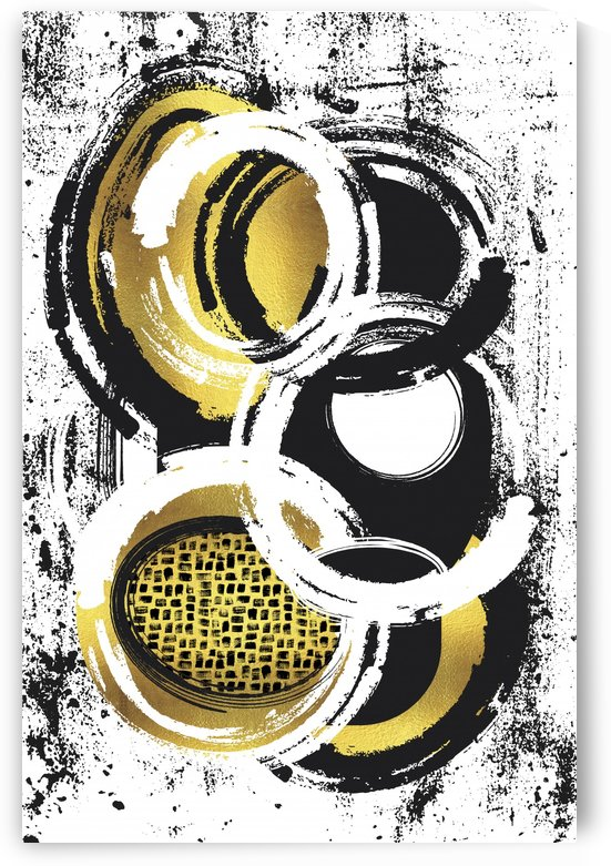 Abstract Painting No. 2 | gold by Melanie Viola