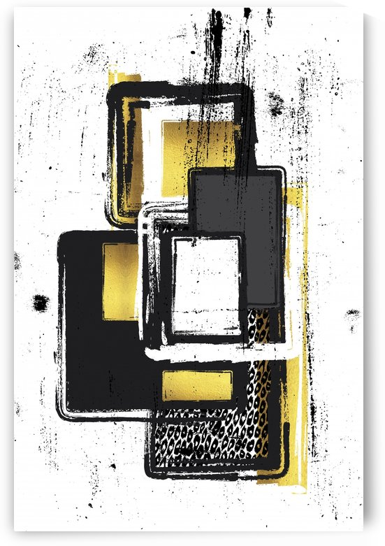 Abstract Painting No. 3 | gold by Melanie Viola