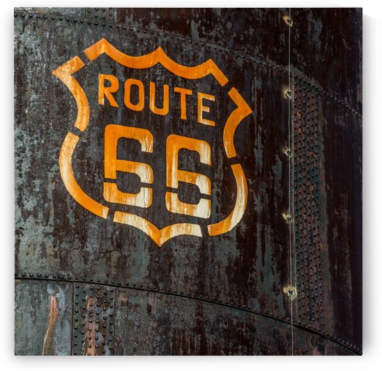 Route 66 Sign - Old Fuel Storage Tank - Arizona by Gary Whitton