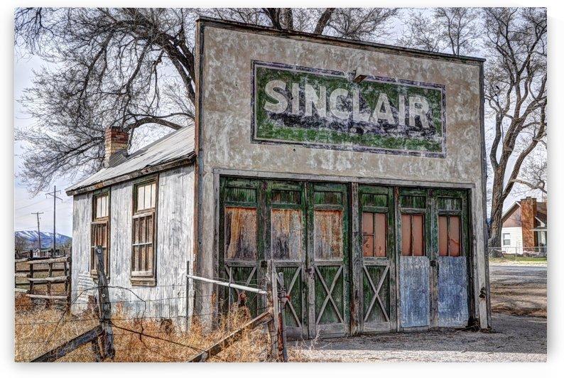 Vintage Rural Gas Station - Elberta Utah by Gary Whitton