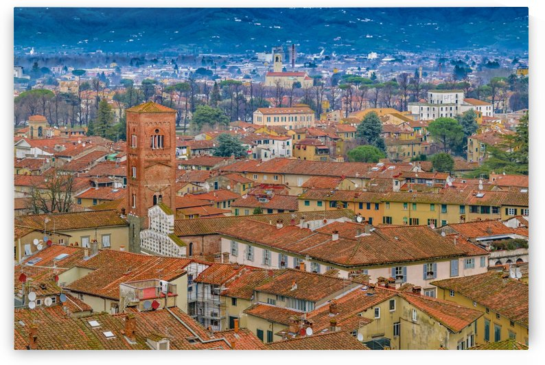 Lucca Historic Center Aerial View by Daniel Ferreia Leites Ciccarino