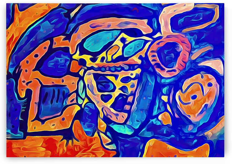 Blue Orange Clash by Aurelia Schanzenbacher Sisters Fine Arts