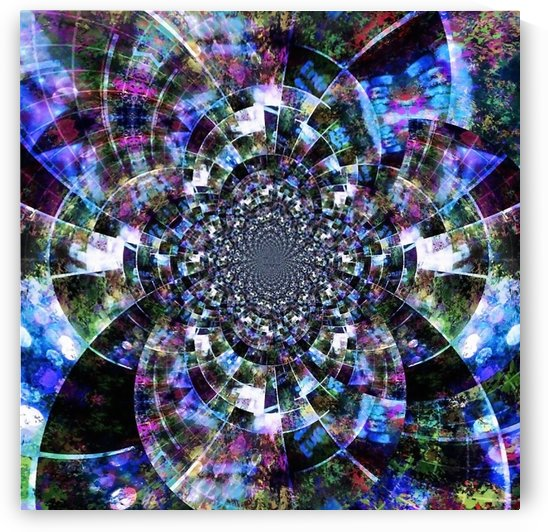 Abstract Fractal in Vivid Colors by Bruce Rolff