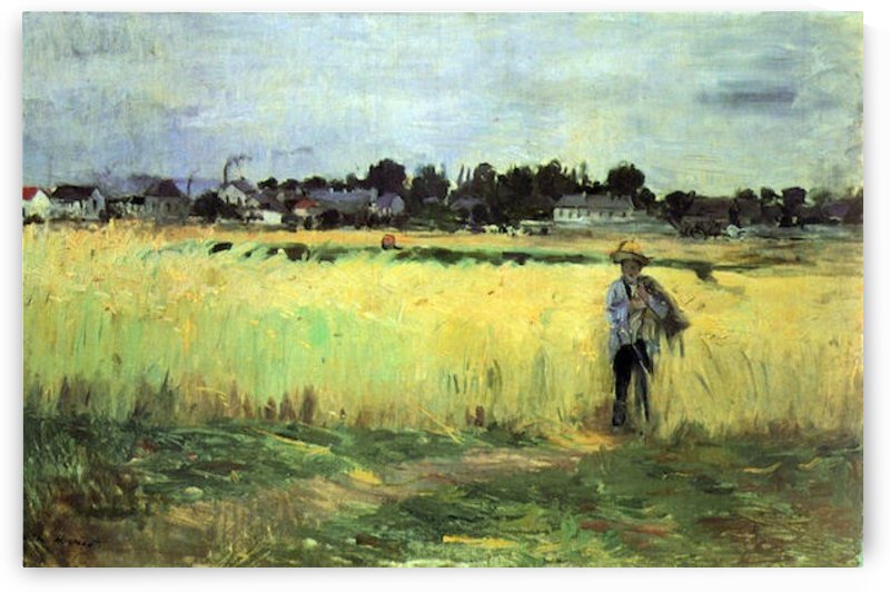 In wheat field by Morisot by Morisot