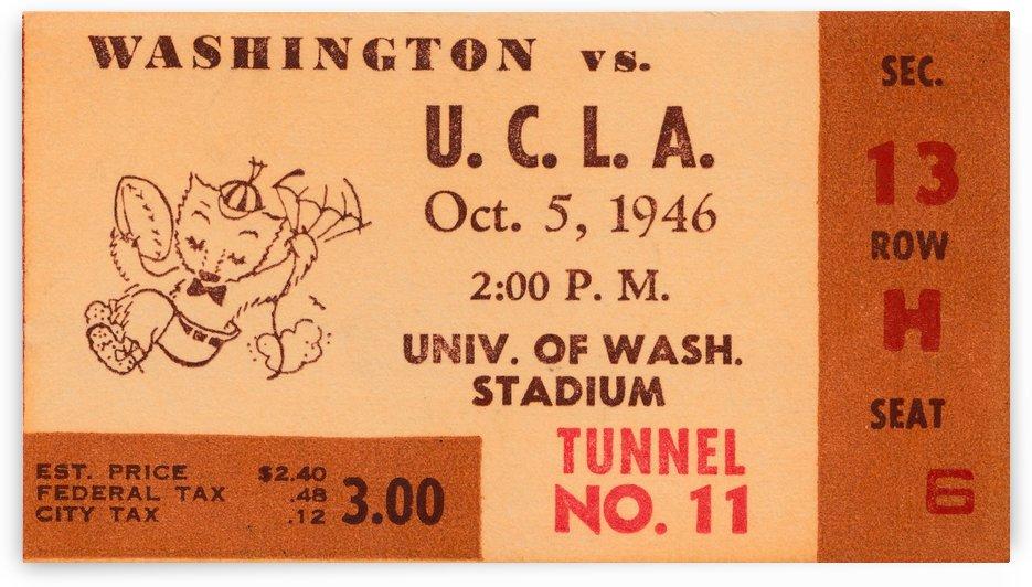 1946 Washington vs. UCLA by Row One Brand