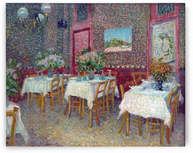 Interior of a Restaurant by Van Gogh by Van Gogh