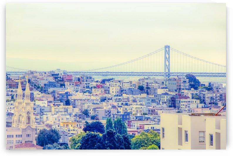 bridge and city view at San Francisco USA by TimmyLA