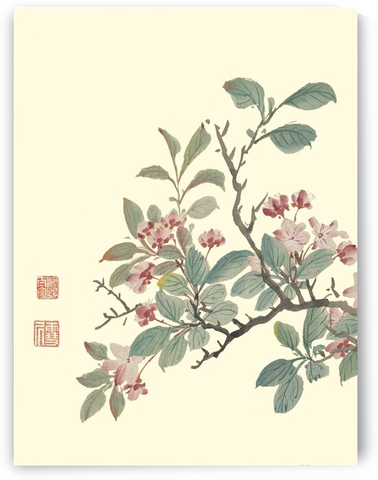 Chinese traditional flower-and-bird painting prints. Ming Dynasty paintings. Vintage art prints. Wall decor. Chinese traditional art prints 009. by YongeArtStudio