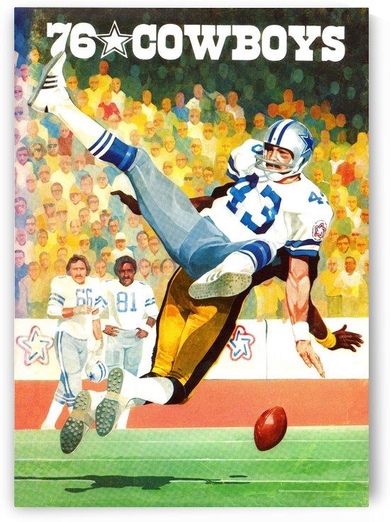 1976 Dallas Cowboys Retro Football Art by Row One Brand