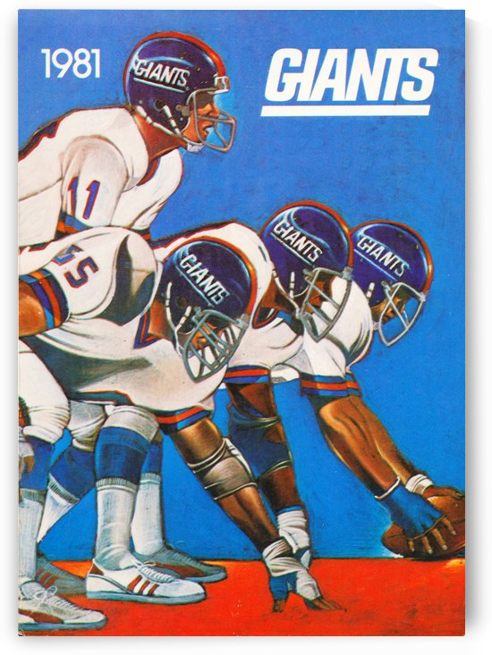 1981 new york giants by Row One Brand