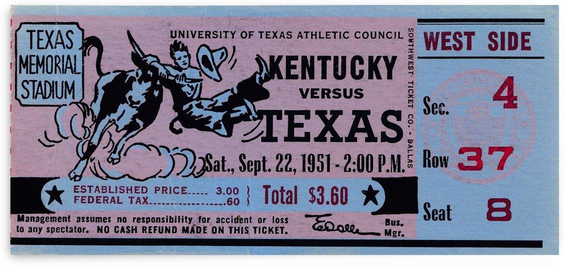 1951 Kentucky vs. Texas by Row One Brand