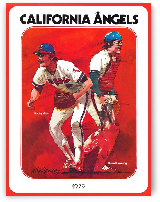 retro california angels poster baseball art row one (1) by Row One Brand