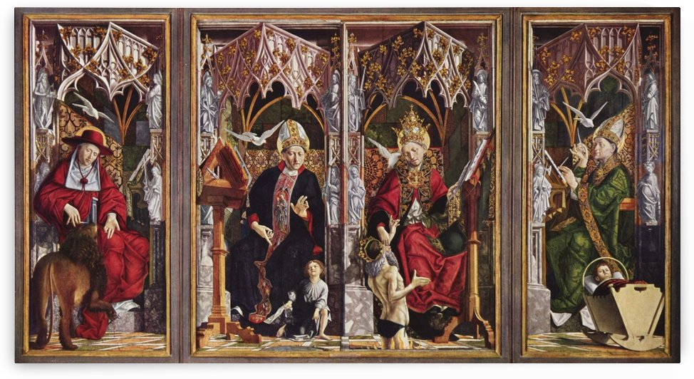 Altarpiece of the Saint Wolfgang Church Fathers by Michael Pacher
