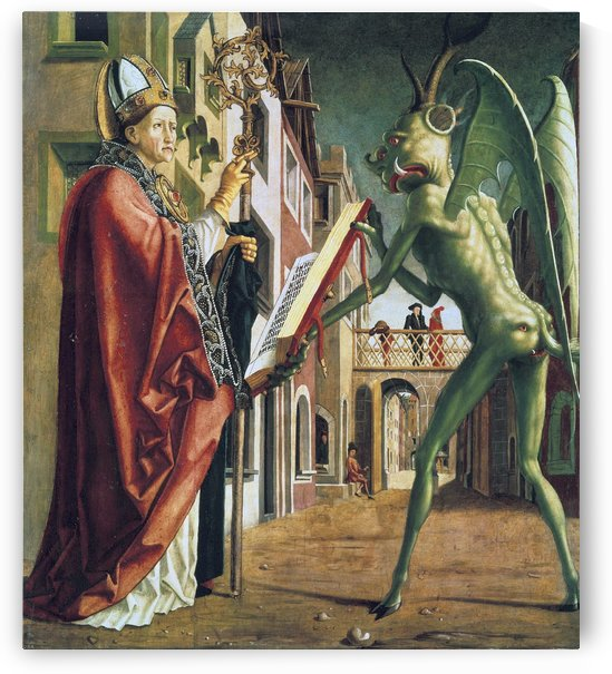 Saint Wolfgang and The Devil by Michael Pacher