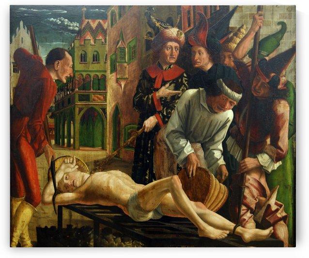 Martyrium des Hl. Laurentius by Michael Pacher