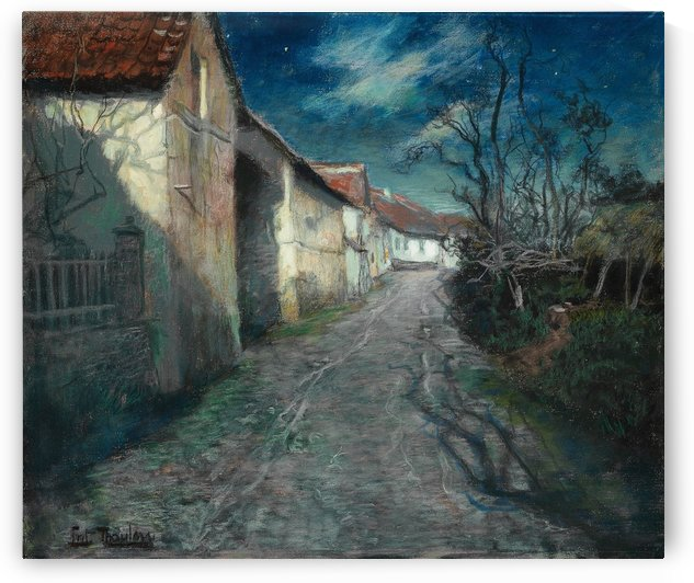 Moonlight in Beaulieu by Frits Thaulow