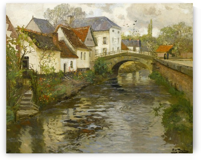 Small town near La Panne by Frits Thaulow