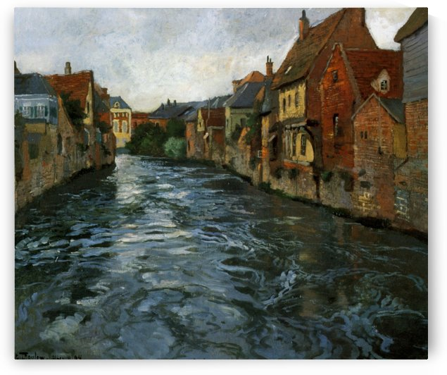 Riverside, View of Abbeville by Frits Thaulow