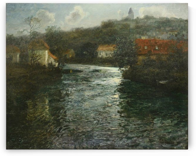 Moonlit Canal by Frits Thaulow