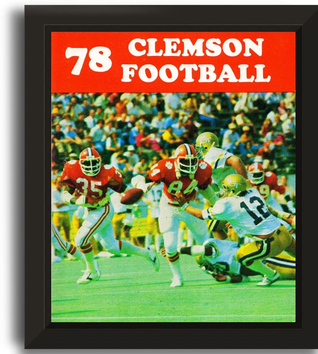 retro college football posters clemson tigers by Row One Brand