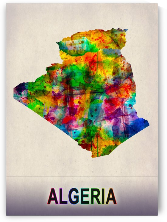 Algeria Map in Watercolor by Towseef