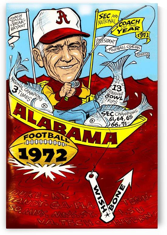 1972 alabama football by Row One Brand