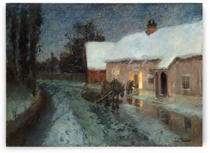 Night by Frits Thaulow