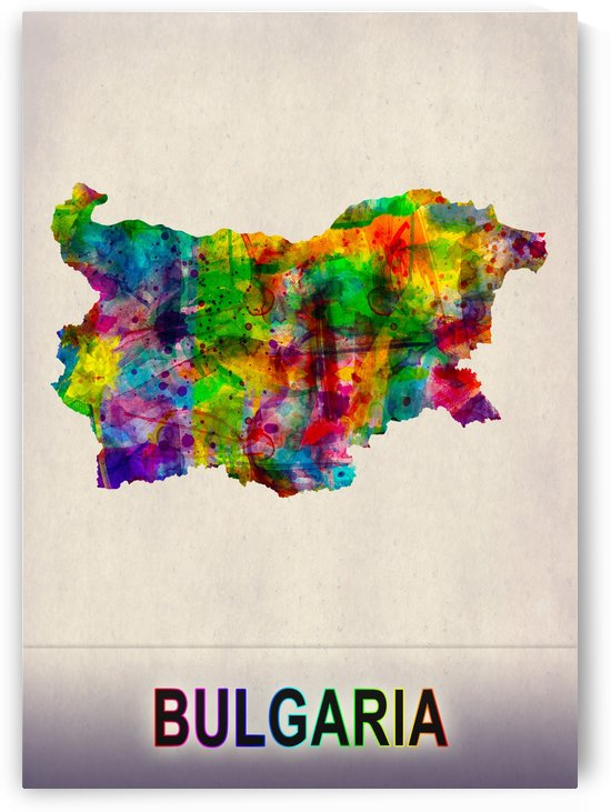 Bulgaria Map in Watercolor by Towseef