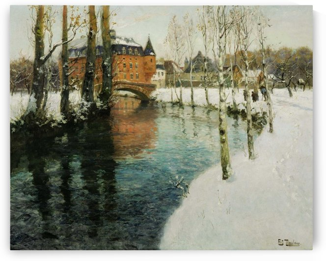 A chateau in Normandy by Frits Thaulow