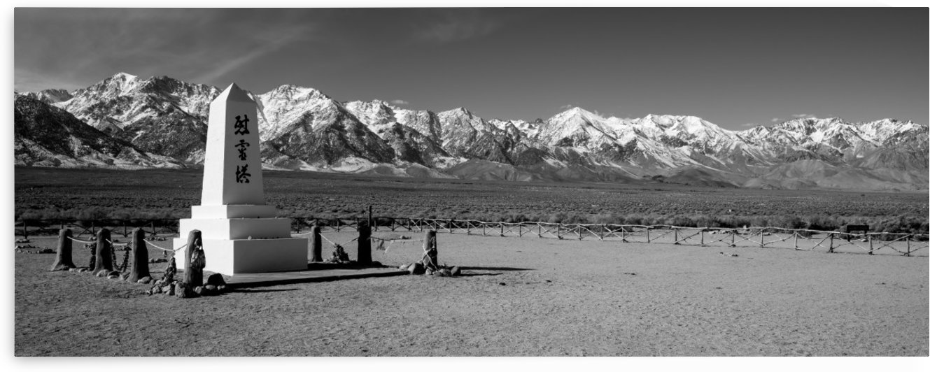 Manzanar Relocation Camp Cemetery Monument by Gary Whitton