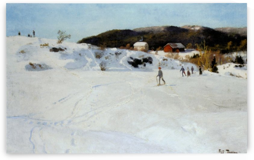Skiers by Frits Thaulow