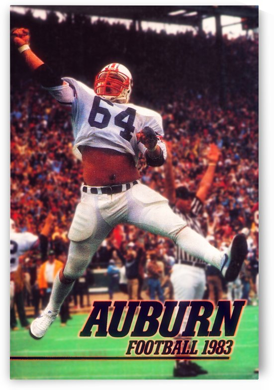 1983 Auburn Tigers Football Poster by Row One Brand