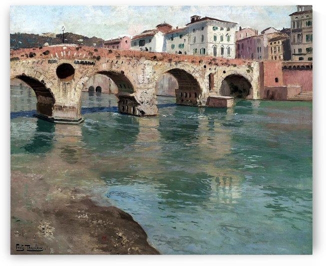 View of Ponte di Pietra, Verona by Frits Thaulow