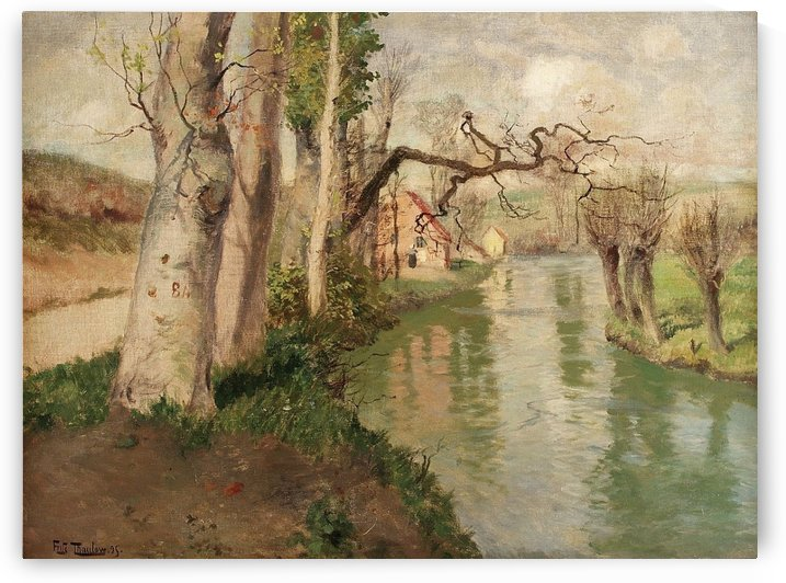 From Dieppe to Arques River by Frits Thaulow