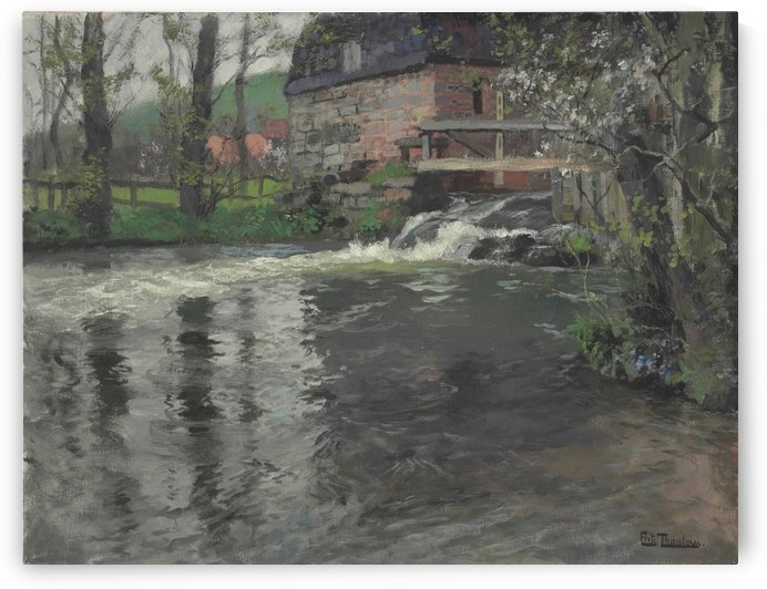 Watermill by Frits Thaulow