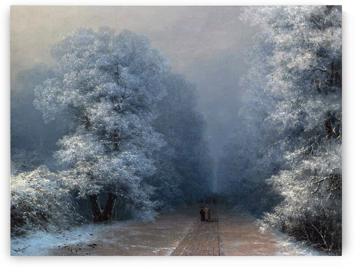 Winter landscape and alley by Ivan Aivazovsky
