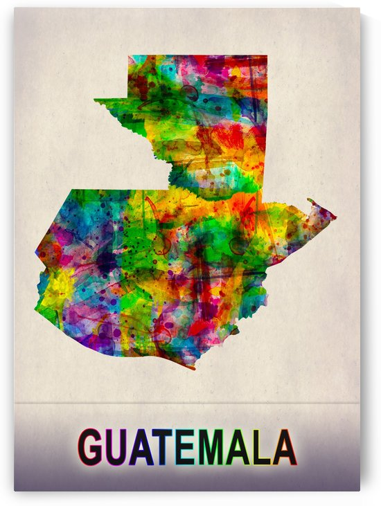 Guatemala Map in Watercolor by Towseef