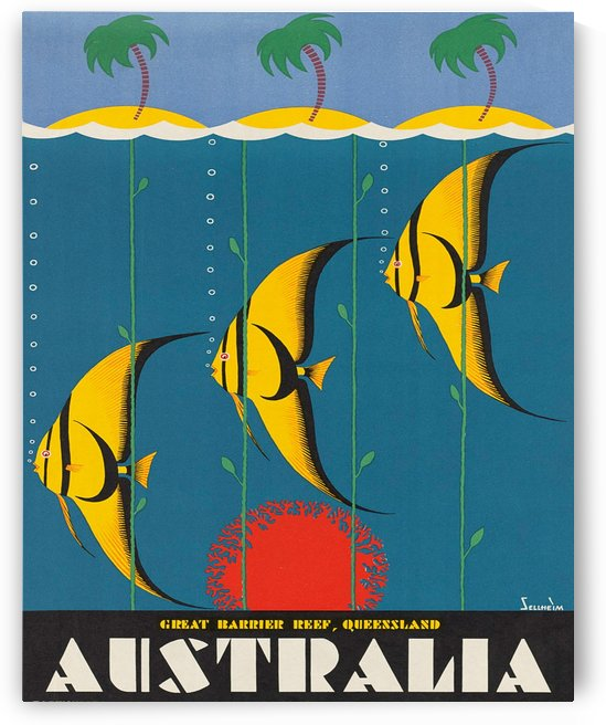 Tropic Fish from Australia  by vintagesupreme