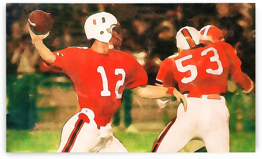 Miami Hurricanes Jim Kelly Art by Row One Brand