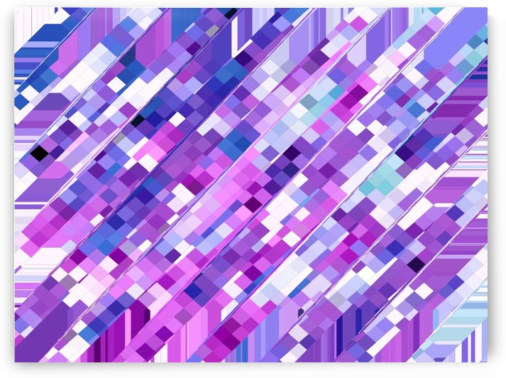 geometric square pixel pattern abstract background in purple pink by TimmyLA