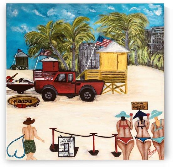 Siesta_beach_covid_shutdown by Marie Therese Lacroix